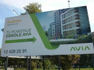 Teren na którym budowane jest osiedle Avia