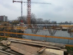 Orlińskiego 6 - prace budowlane na poziomie -1
