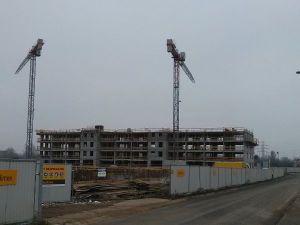 Budowa czwartego piętra na ulicy Orlińskiego 4 w Czyżynach