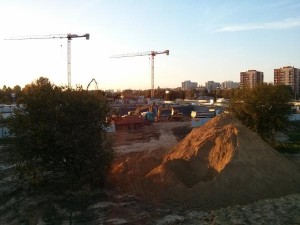 Budowy na osiedlu Orlińskiego w Czyżynach