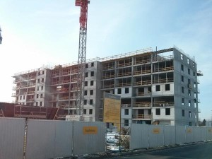 Budowa bloku Orlińskiego 4 w Czyżynach