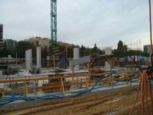 Budowa parteru bloku Orlińskiego 1 - tanie nowe mieszkania w Krakowie