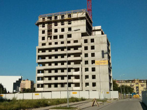 14 piętro osiedla Avia 2 budowanego w Czyżynach