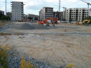 Budowa parkingu na osiedlu Orlińskiego i Avia w Krakowie
