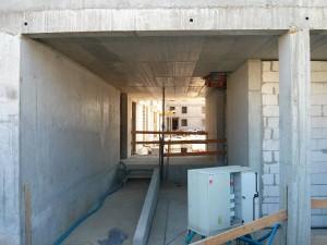 Dziedziniec inwestycji mieszkaniowej Orlińskiego 6 w Czyżynach