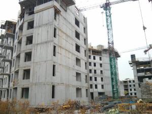 Budowa pięter osiedla Avia 5 w Czyżynach