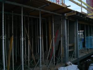 Osiedle Avia 1 w Krakowie Czyżynach - budowa parteru budynku