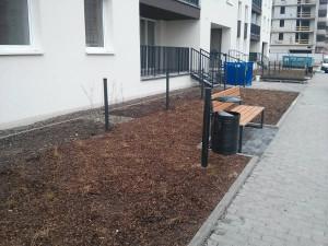 Urządzanie terenu wokół inwestycji Orlińskiego 4 w Krakowie