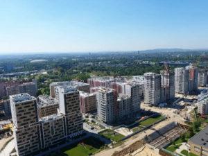Nowe Czyżyny - osiedle mieszkaniowe w Czyżynach z góry