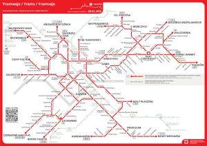 Siatka komunikacji tramwajowej w Krakowie