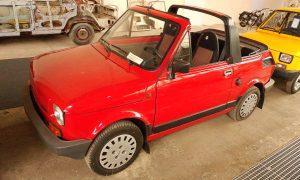 Mały Fiat w Muzeum Inżynierii Miejskiej w Hangarze w Czyżynach