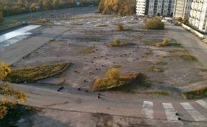 Teren na którym ma powstać nowy park w Czyżynach